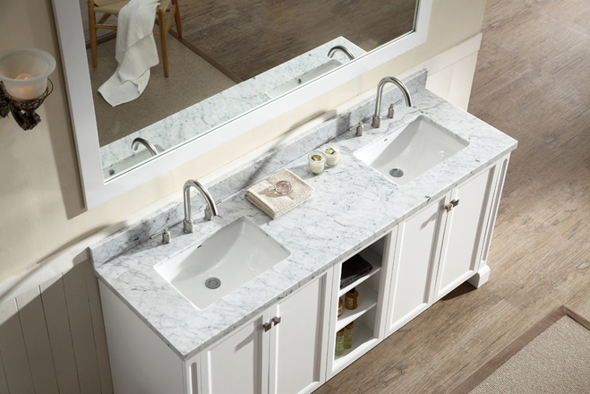 Your white antique bathroom vanity